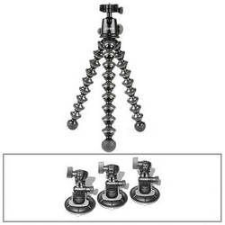 Cinetics CineSquid Suction Cup Camera Mount, GorillaPod Focus Tripod/Ballhead X