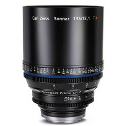 Zeiss Compact Prime CP.2 135mm/T2.1 PL Mount with Imperial Markings