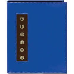 Pioneer Photo Albums CMB-46 Metal Buttons Brag Photo Album (Blue)