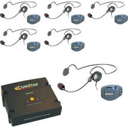Eartec ComPAK Com-Center and Cyber Headset System (6 Piece)