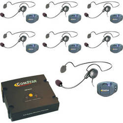 Eartec ComPAK Com-Center and Cyber Headset System (7 Piece)