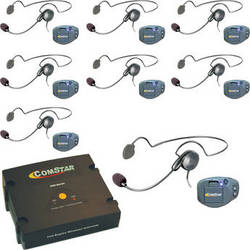 Eartec ComPAK Com-Center and Cyber Headset System (8 Piece)
