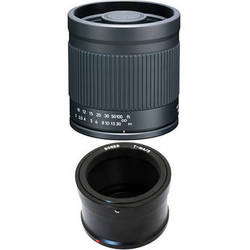 Kenko 400mm f/8.0 Mirror Lens with T-Mount Adapter for Micro Four Thirds Cameras