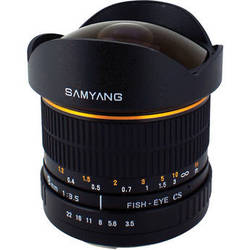 Samyang 8mm Ultra Wide Angle f/3.5 Fisheye Lens for Sony Alpha Mount
