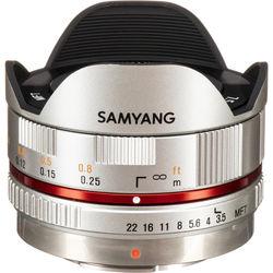 Samyang 7.5mm f/3.5 UMC Fisheye MFT Lens - Silver