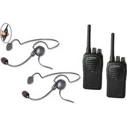 Eartec 2-User SC-1000 Two-Way Radio System with Cyber Inline PTT Headsets