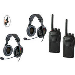 Eartec 2-User SC-1000 Two-Way Radio with Proline Double Inline PTT Headsets