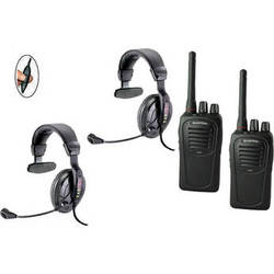 Eartec 2-User SC-1000 Two-Way Radio with Proline Single Inline PTT Headsets
