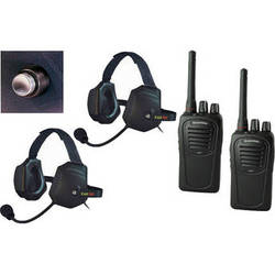 Eartec 2-User SC-1000 Two-Way Radio with XTreme Shell Mount PTT Headsets