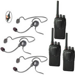 Eartec 3-User SC-1000 Two-Way Radio System with Cyber Inline PTT Headsets