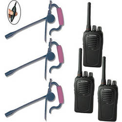Eartec 3-User SC-1000 Two-Way Radio System with Edge Inline PTT Headsets