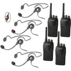 Eartec 4-User SC-1000 Two-Way Radio System with Cyber Inline PTT Headsets