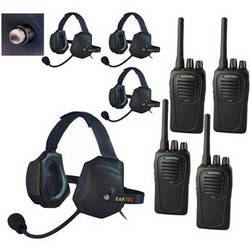 Eartec 4-User SC-1000 Two-Way Radio with XTreme Shell Mount PTT Headsets