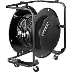 """Hannay Reels AV-2 Audio Video Reel With 3"""" Casters (Black)"""