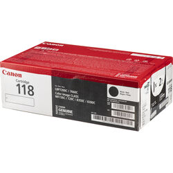 Canon 118 Black Laser Cartridge 2-Pack
