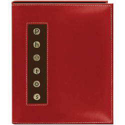 Pioneer Photo Albums CMB-46 Metal Buttons Brag Photo Album (Red)