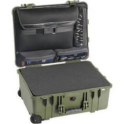 Pelican 1560LFC Case With Foam In Base (Green)
