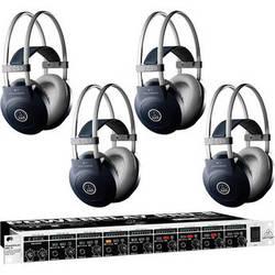 Behringer HA8000 Headphone Amplifier and Headphones Package