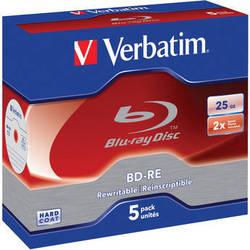 Verbatim BD-RE Blu-ray Re-Writable Discs (5-Pack)