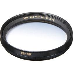 B+W 52mm Hard Edge Graduated Neutral Density 701 MRC 0.3 Filter (1-Stop)