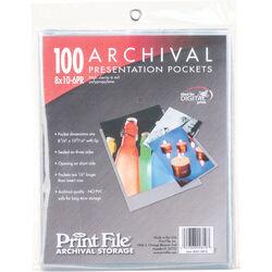 "Print File Polypropylene Presentation Pocket (8 x 10"", 100 Pack)"