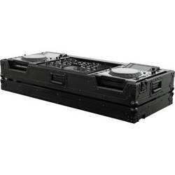 Odyssey Innovative Designs FZPI22000WBL Flight Zone Series DJ Coffin for a Pioneer DJM-2000 DJ Mixer and 2 Large Format Tabletop CD Digital Media Players (Black)