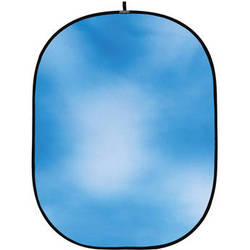 Botero #008 CollapsibleBackground (5x7') (Sky Blue with White)
