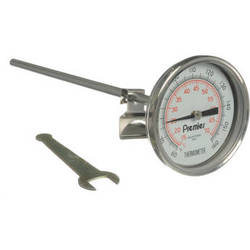 """Doran LDT Adjustable Luminescent 2.5"""" Dial Thermometer with 8"""" Stem"""