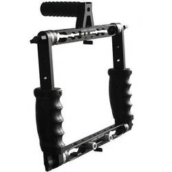 Cavision Triple Handgrip Cage With Dual Rods Brackets (22 cm Vertical Spacing)