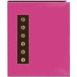 Pioneer Photo Albums CMB-46 Metal Buttons Brag Photo Album (Pink)