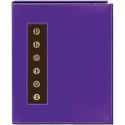 Pioneer Photo Albums CMB-46 Metal Buttons Brag Photo Album (Purple)