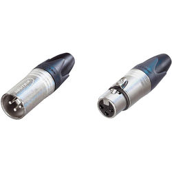 Neutrik XX Series Male and Female XLR Connectors Kit (Nickel Housing/Silver Contacts)
