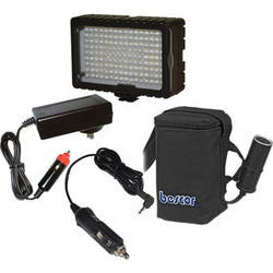 Bescor LED-125 On-Camera Light with HP-3NC Battery / Charger / Adapter Kit