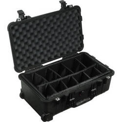 Pelican 1510 Carry On Case with Dividers (Black)