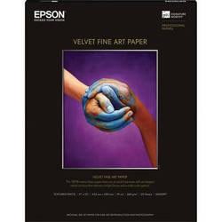 """Epson Velvet Fine Art Paper (17 x 22"""", 25 Sheets)"""