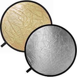 "Impact Collapsible Circular Reflector Disc - Gold/Silver - 22"""