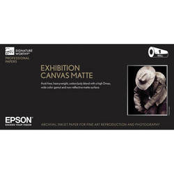 "Epson Exhibition Canvas Matte Archival Inkjet Paper (17"" x 40' Roll)"