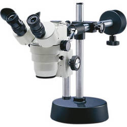 National 420T-1105-05 1-4x Stereo Zoom Microscope with Trinocular Port