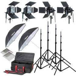 Smith-Victor K79 4-Light 3200 Watt Professional Studio Lighting Kit (120-240V AC)
