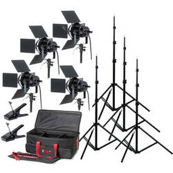Smith-Victor K76 4-Light 4,000 Watt Professional Studio Kit (120V)