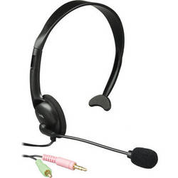 Cyber Acoustics AC-100B Monaural PC Headset with Microphone