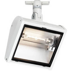 Strand Lighting 300 W Linear Wing Wall Wash Flood with LSI Track Adapter (White)