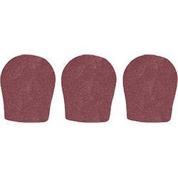 "WindTech 300 Series Windscreens for 1-3/8"" Diameter Microphones (3 Pack, Brown)"