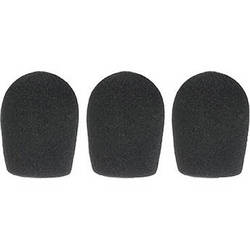 "WindTech 600 Series Windscreens for 1"" Diameter Microphones (3 Pack, Black)"