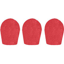"WindTech 600 Series Windscreens for 1"" Diameter Microphones (3 Pack, Red)"