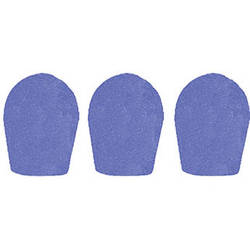 "WindTech 600 Series Windscreens for 1"" Diameter Microphones (3 Pack, Royal Blue)"