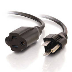 C2G Outlet Saver Power Extension Cord (18 AWG, Black, 25')