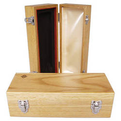 Telefunken Oak Wood Microphone Box with Diamond Logo