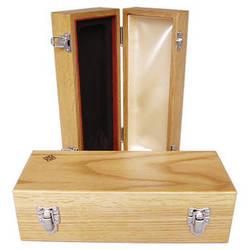 Telefunken Oak Wood Microphone Box with Diamond Logo