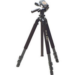 Slik Pro 700DXQ AMT Tripod With 3-Way Pan and Tilt Head (Black)
